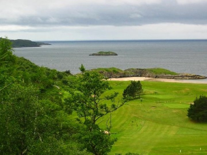 Gairloch golf course and beach