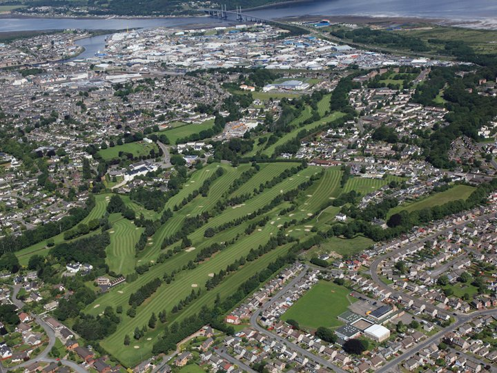 Inverness arial view